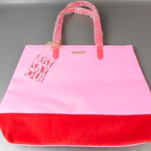 NWT Juicy Couture Red/Pink Large Tote Bag